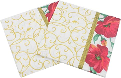 WEI LONG 40 Count Paper Napkins 13x13 Inch, Serviettes Napkins for Weeding Designed Butterfly Prints Cocktail Napkins Dinner and Party Paper Luncheon Napkins 2-Ply Butterfly, 10