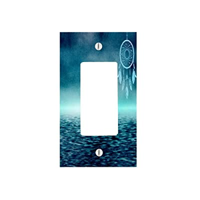 Moonlight Printing Dream Catcher Tribal Indian Symbol Over The Water Ocean 1 Gang Decorator Dimmer Wall Plate (2.94 x 4.69in): Home & Kitchen