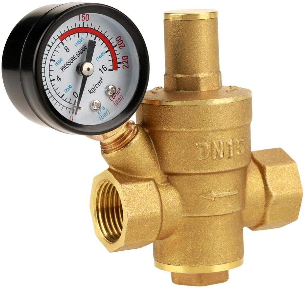 r/éducteur de r/égulateur de pression deau r/églable en laiton DN15 avec jauge R/égulateur de pression libre ajust/é