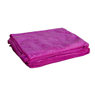 "Towels by Doctor Joe - Ultra-61 Red Terry 16"" x 24"" Microfiber Towel - 12 Pack: Automotive"