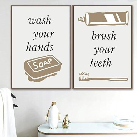 Toalla Jabón Peine Cepillo de dientes Arte de la pared ...