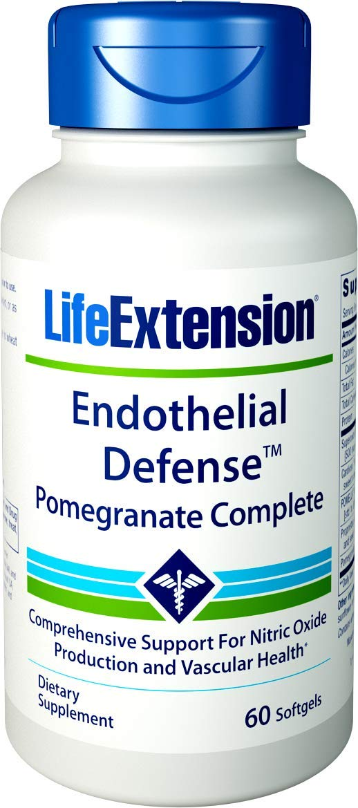 Life Extension 02097 - Endothelial Defense Pomegranate Complete 60 Softgels, 0.3 Pound by Life Extension