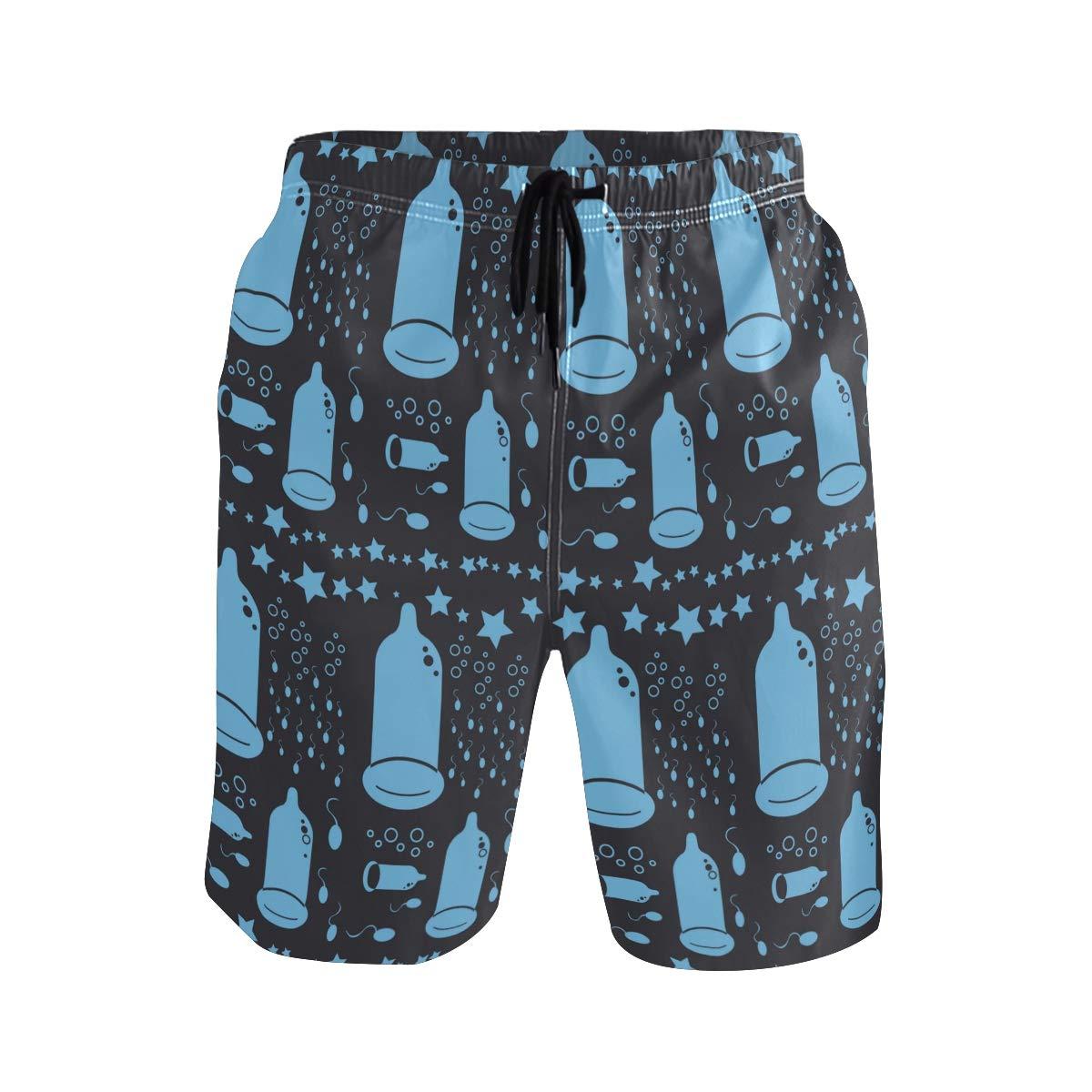 COVASA Mens Summer ShortsCondom