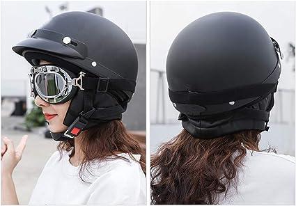 estilo vintage casco de motocicleta Youliy Casco de bicicleta para mujer casco abierto resistente al viento