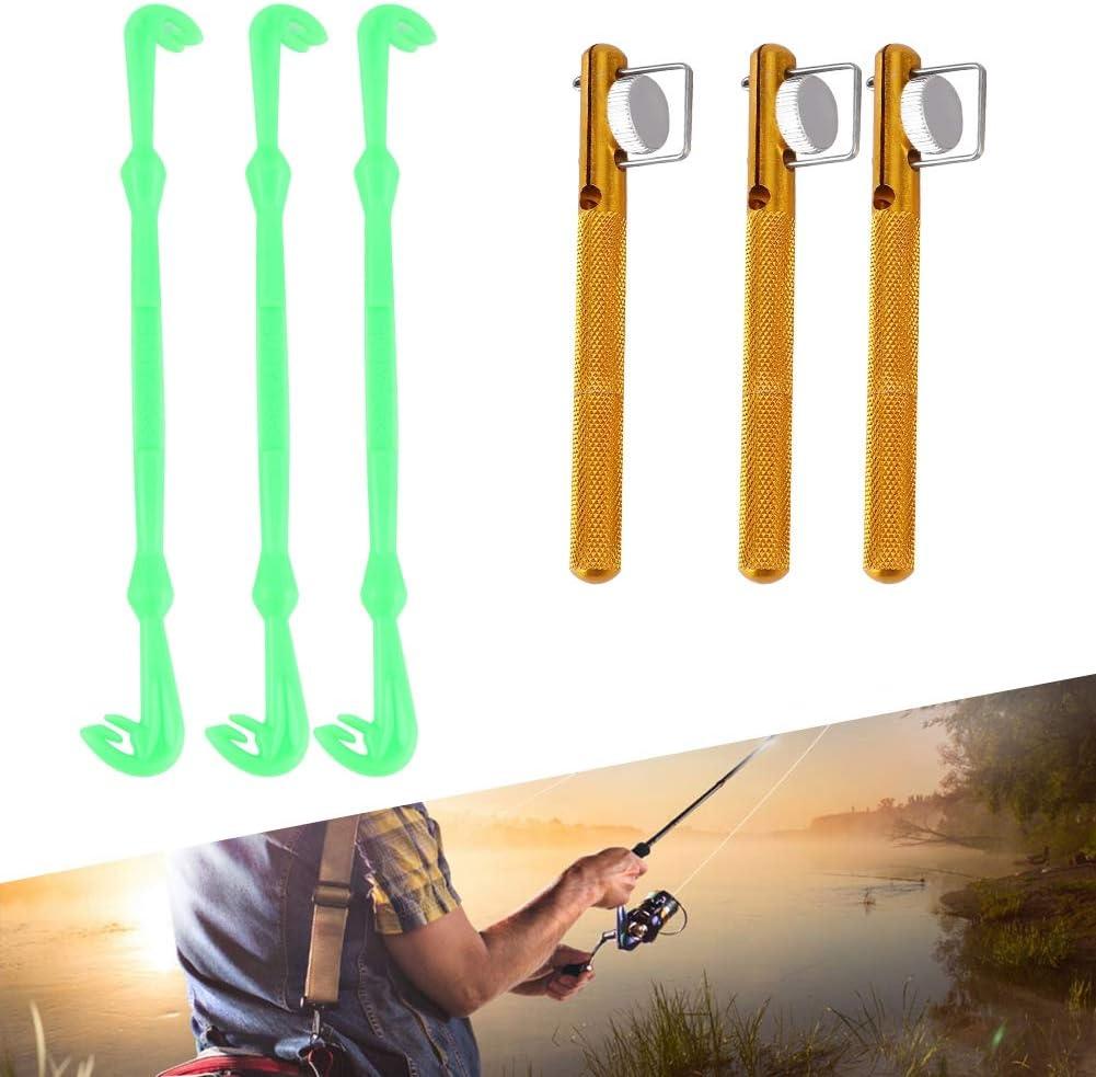 3PCS Fishing Knot Tying Tool+3PCS Hook Tier Fishing Dehooker Set Fishing Tackler Tool for Angler