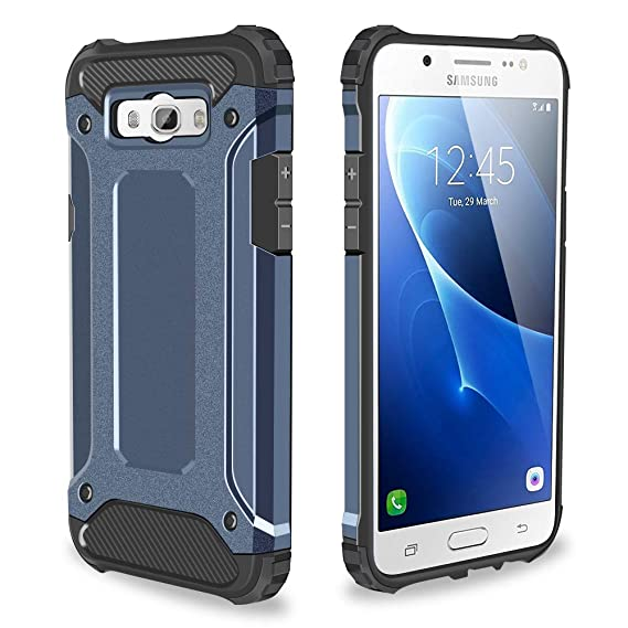 purchase cheap 127c4 279b3 Galaxy J5 2016 Case, Jiunai Hybrid Dual Layer Hard Cover + TPU Silicone  Shockproof Bumper Defender Protective Heavy Duty Protection Shell Armor  Phone ...