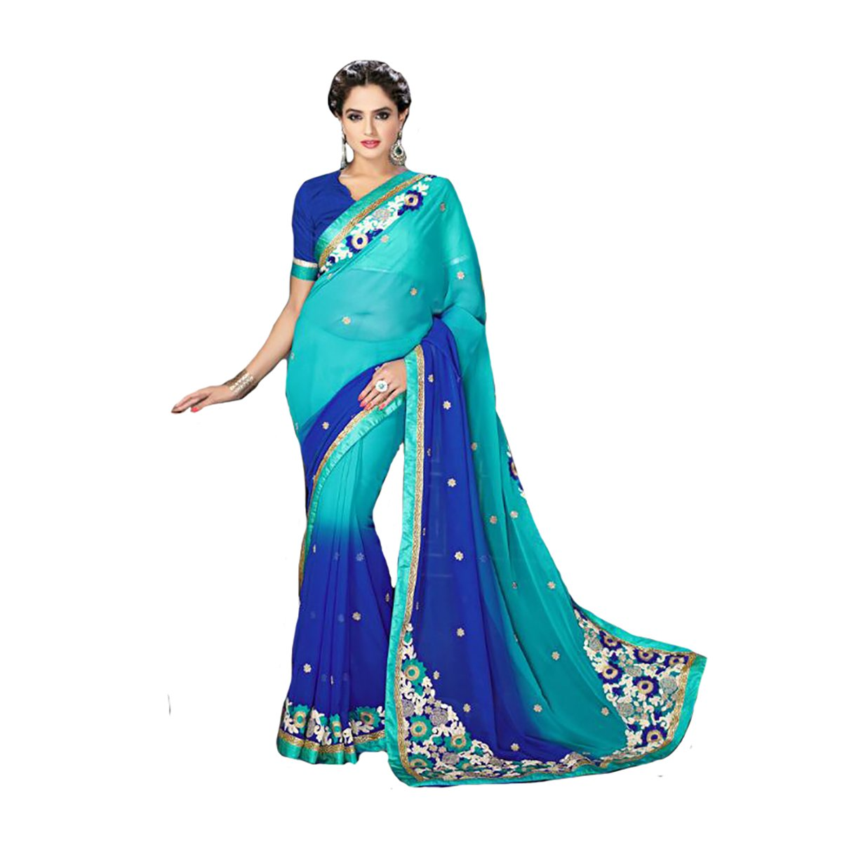 Indian Bridal Wedding Sari Saree Designer Work Original Ethnic Traditional WhiteSexy New