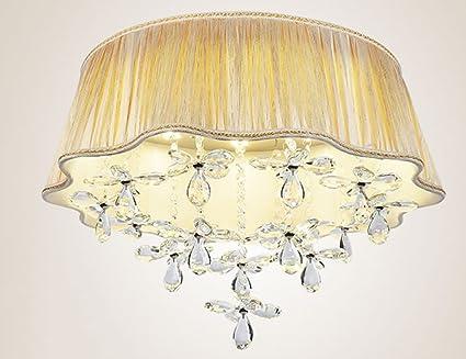 Plafoniera In Tessuto Prezzi : Plafoniera interna lampada di cristallo della camera da letto