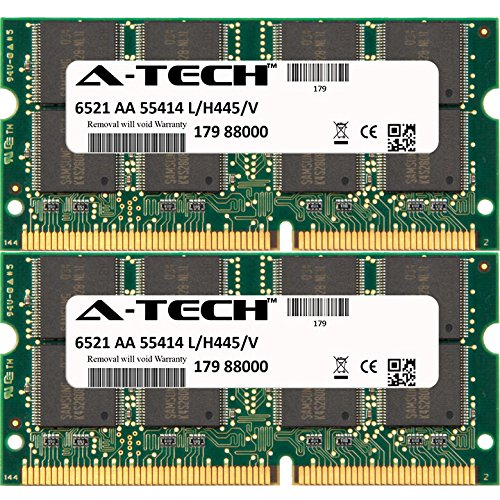 A-Tech 256MB KIT (2 x 128MB) For Gateway Solo Notebook Series 9300cx Deluxe 850 9500 9500CL 9500CL Deluxe 9500CS 9500CS Deluxe 9500cx 850-1.0G 9500cx Deluxe. SO-DIMM SD NON-ECC PC133 133MHz RAM Memory