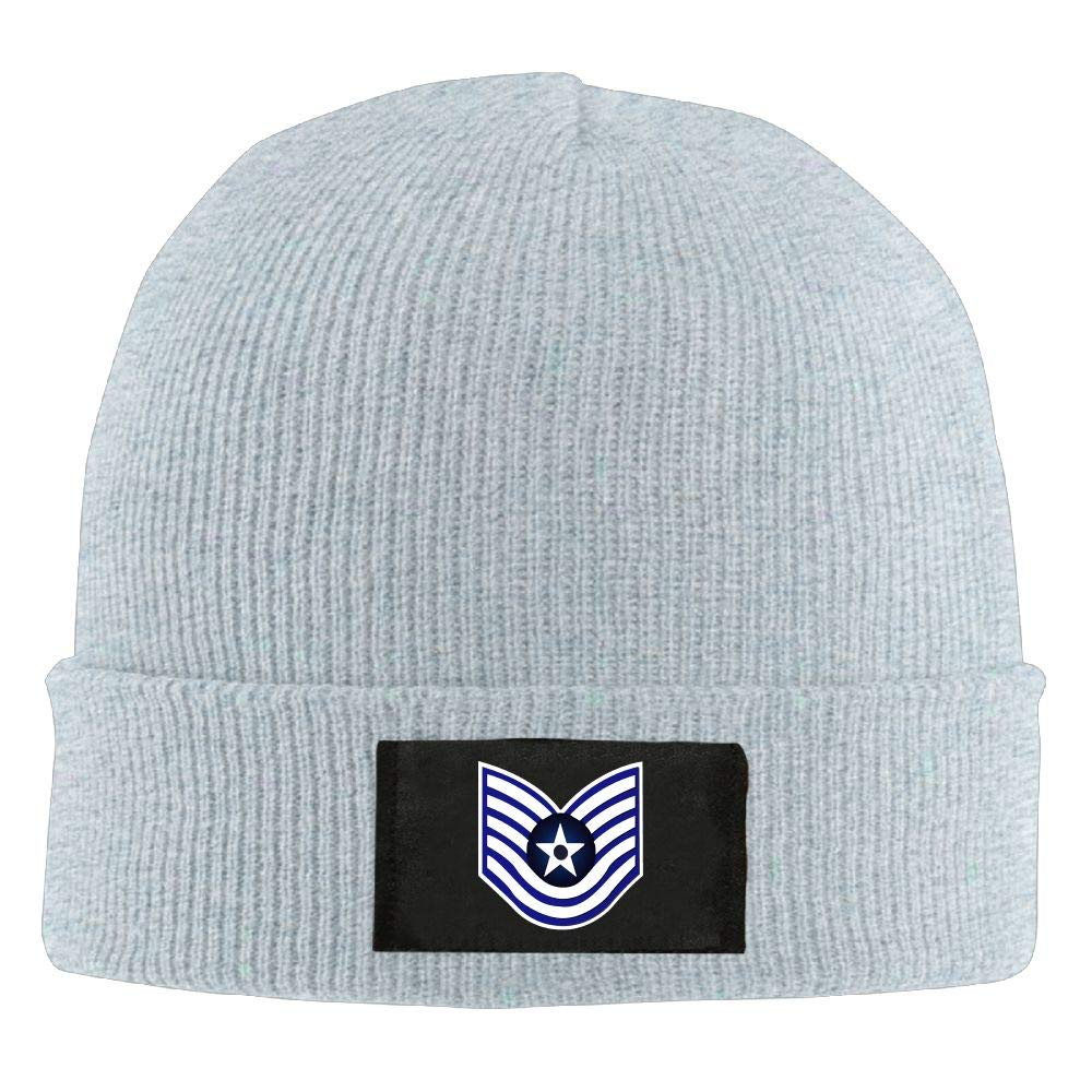 Technical Sergeant Knitted Hat Adult Skull Beanie USAF