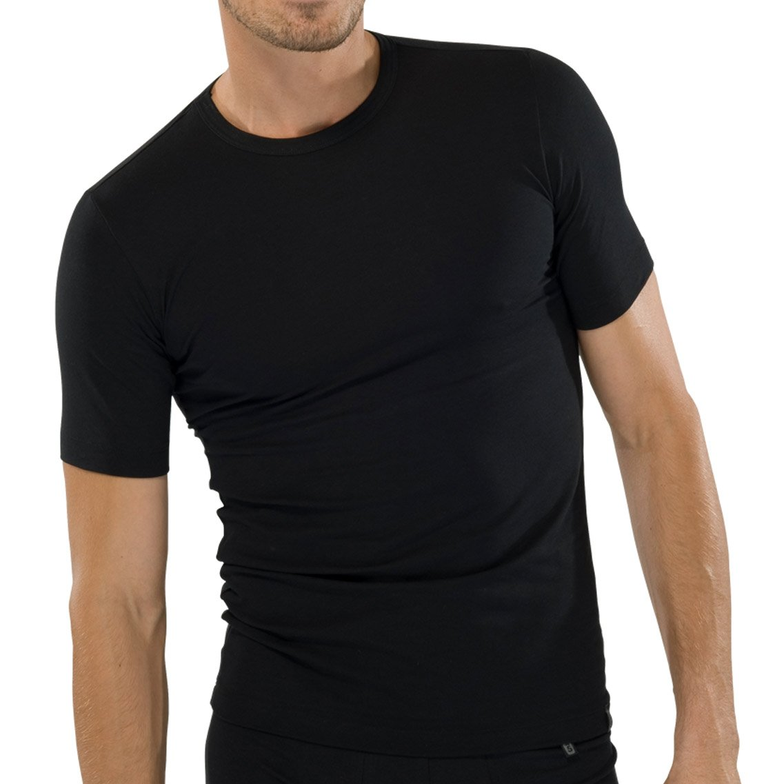 c643c6104ea157 Schiesser 2er Pack Herren T-Shirt Rundhals Kurzarm