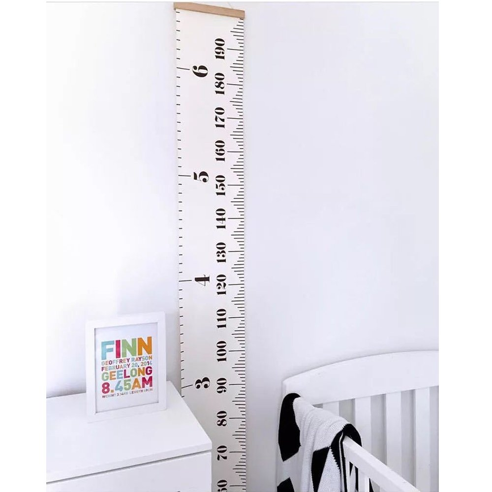 White Removable Growth Chart Room Decoration 7.9x79 Wood Frame Height Measurement Rulers For Kids Pawaca Wall Hanging Growth Chart