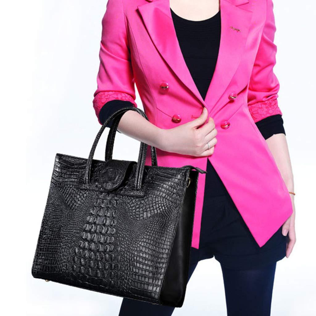 ballboU Fashion Women Leather Pattern Shoulder Bag Tote Purse Top-handle Bags Satchel Crossbody Handbag