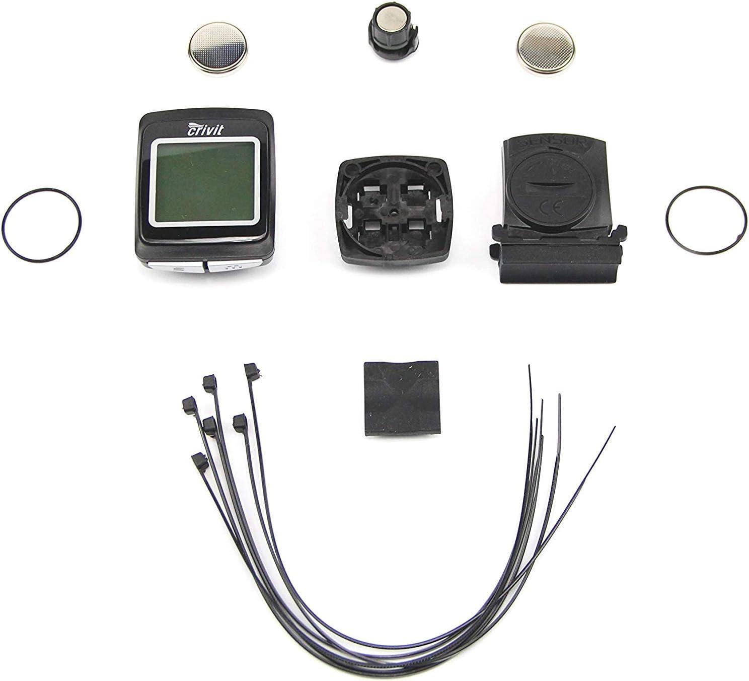 Crivit - Ciclocomputador (15 Funciones, 4-45), Color Negro: Amazon.es: Deportes y aire libre