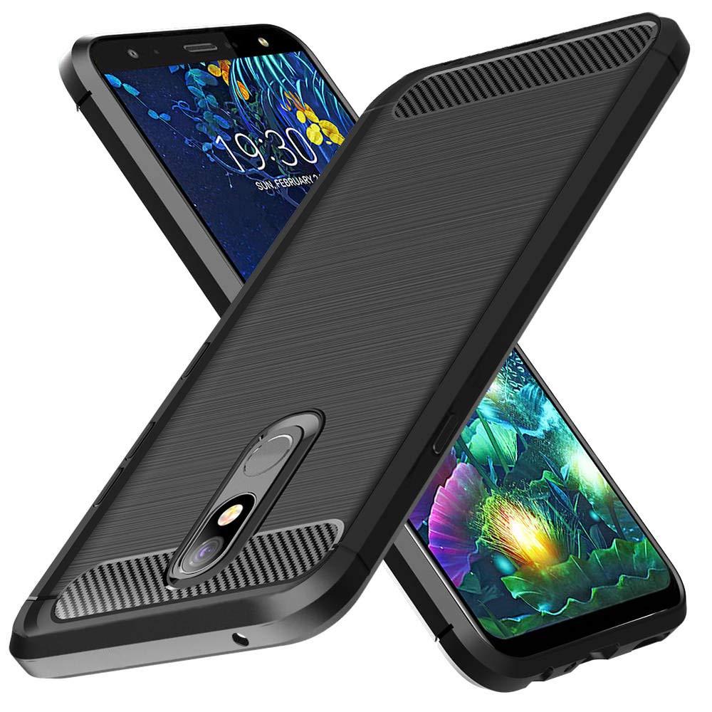 SKTGSLAMY LG K40 Case,LG Xpression Plus 2,LG Solo LTE,LG Harmony 3,LG X4 2019,LG K12 Plus Case, Carbon Fiber Soft TPU Scratch Resistant Shock ...