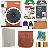 Fujifilm Instax Mini 90 Instant Camera + Fuji Instax Film (20 Sheets) + Accessories Bundle