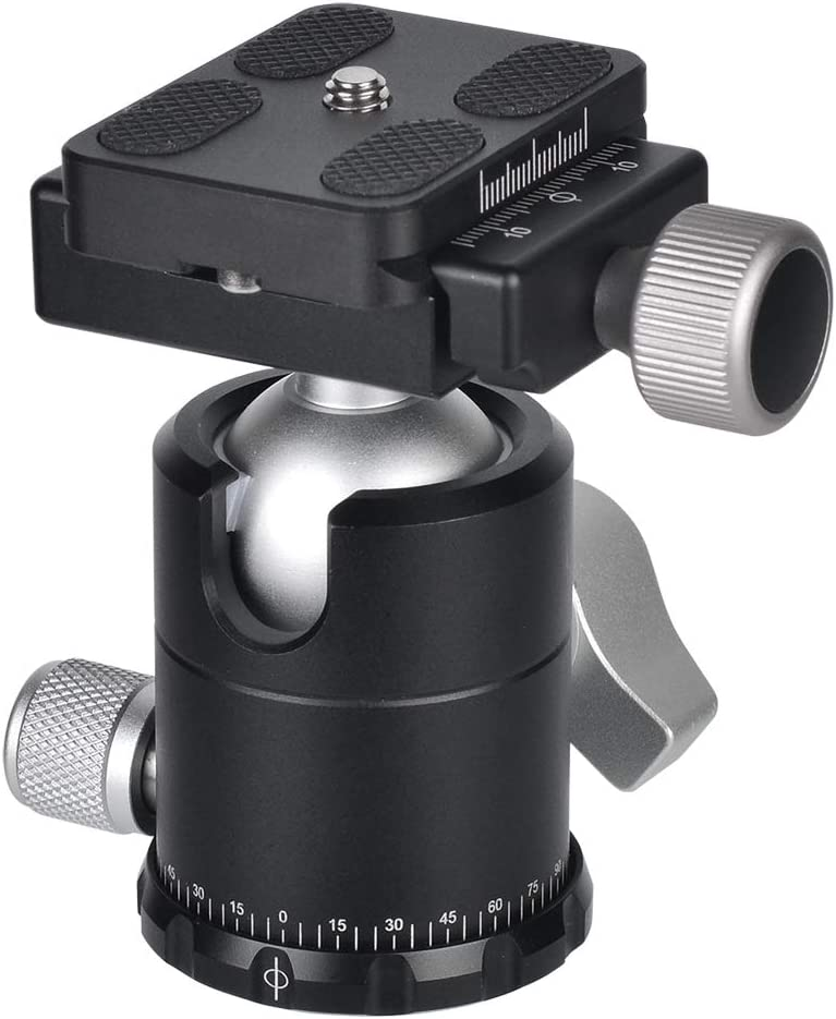Moveski CL-110N Quick Release Clamp with Aluminum Alloy for Quick Release Plate Tripod Or Monopod Compatible with Arca-Swiss Standard