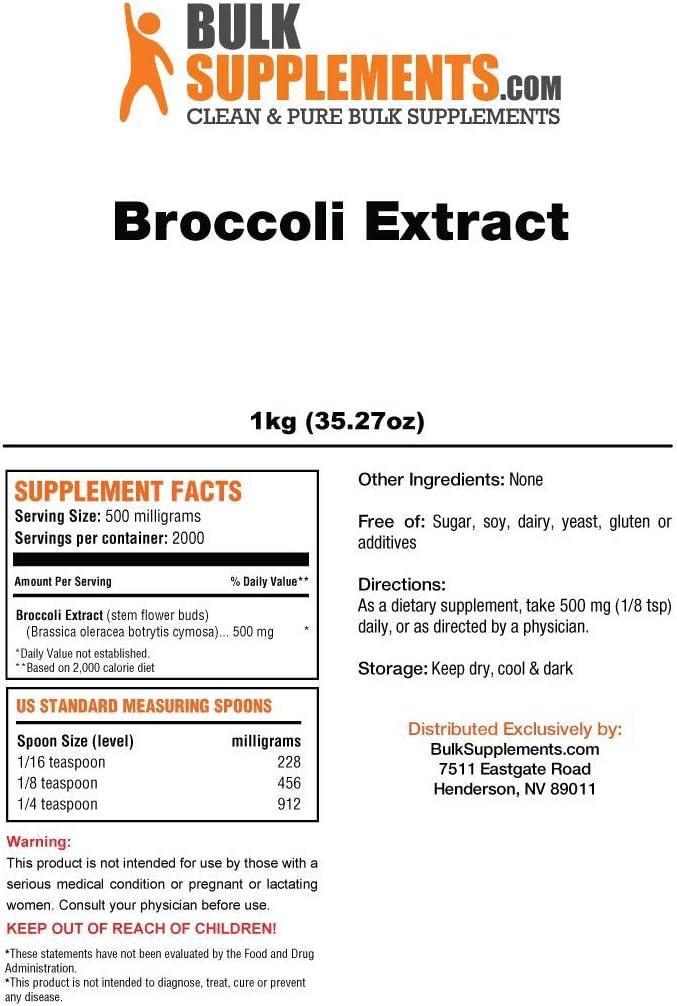 BulkSupplements Broccoli Extract Powder 1 Kilogram