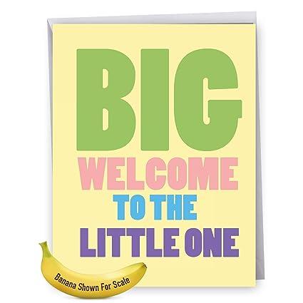 amazon com large newborn baby greeting card with envelope big