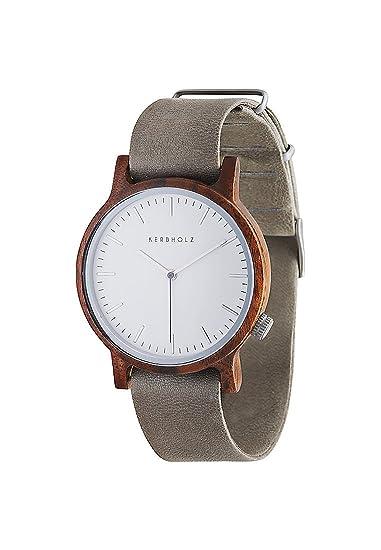 Kerbholz Reloj Digital de Cuarzo para Mujer con Correa de Cuero - 4251240402468: Amazon.es: Relojes