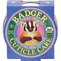 Badger - Mantequilla calmante orgánica certificada del Shea del cuidado de la cutícula - .75 onza. - 1 paquete