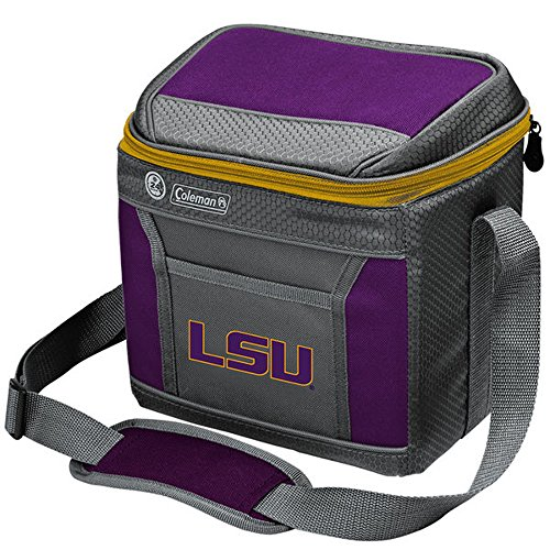 NCAA LSU Tigers NCAA 9 Can Soft Side Cooler, Gray Lsu Tigers Cooler