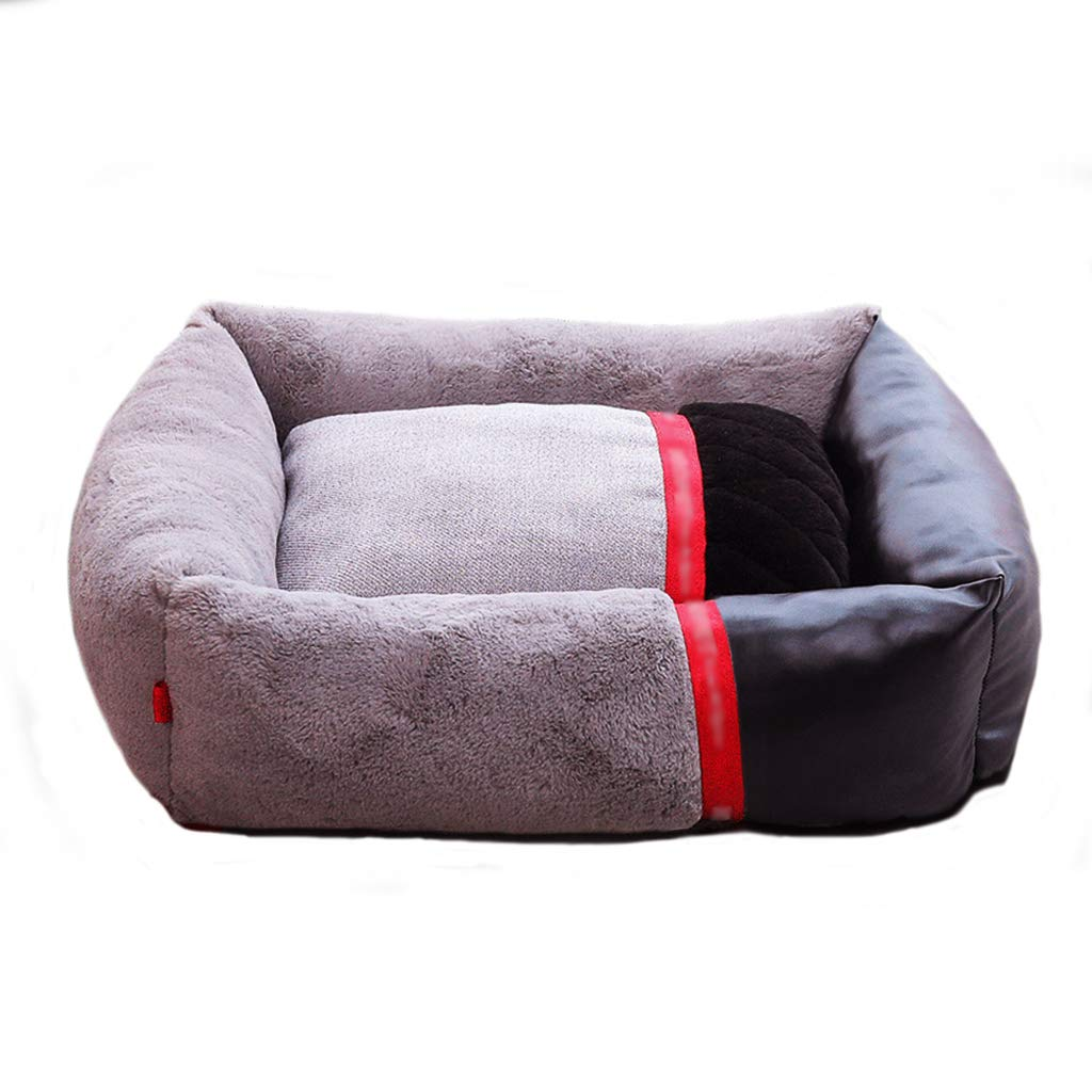 453516 Pet house kennel Small dog Medium dog Large dog Detachable Pet bed pet nest Pet mat Thicken Soft and comfortable Four seasons available (Size   45  35  16)