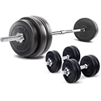 58KG Barbell Set 20KG Dumbbell Set Adjustalbe Weights Plates Home Gym Fitness Exercise Workout Training Bench Press Squat 78KG Set Everfit