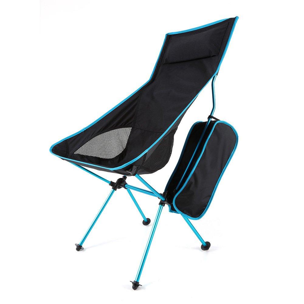 キャンプ椅子Lengthen軽量折りたたみキャンプスツール椅子Seat for釣りピクニックバーベキュービーチwithバッグ(ブルー) B074V33BZZ B074V33BZZ, DENIS STORE:aa0d3124 --- ferraridentalclinic.com.lb