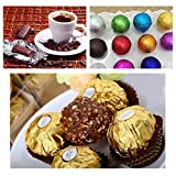 500pcs Chocolate Candy Wrappers Aluminum Foil Paper Wrapping Papers Food Grade Foil Wrappers for DIY Candy Chocolate Packing Decoration