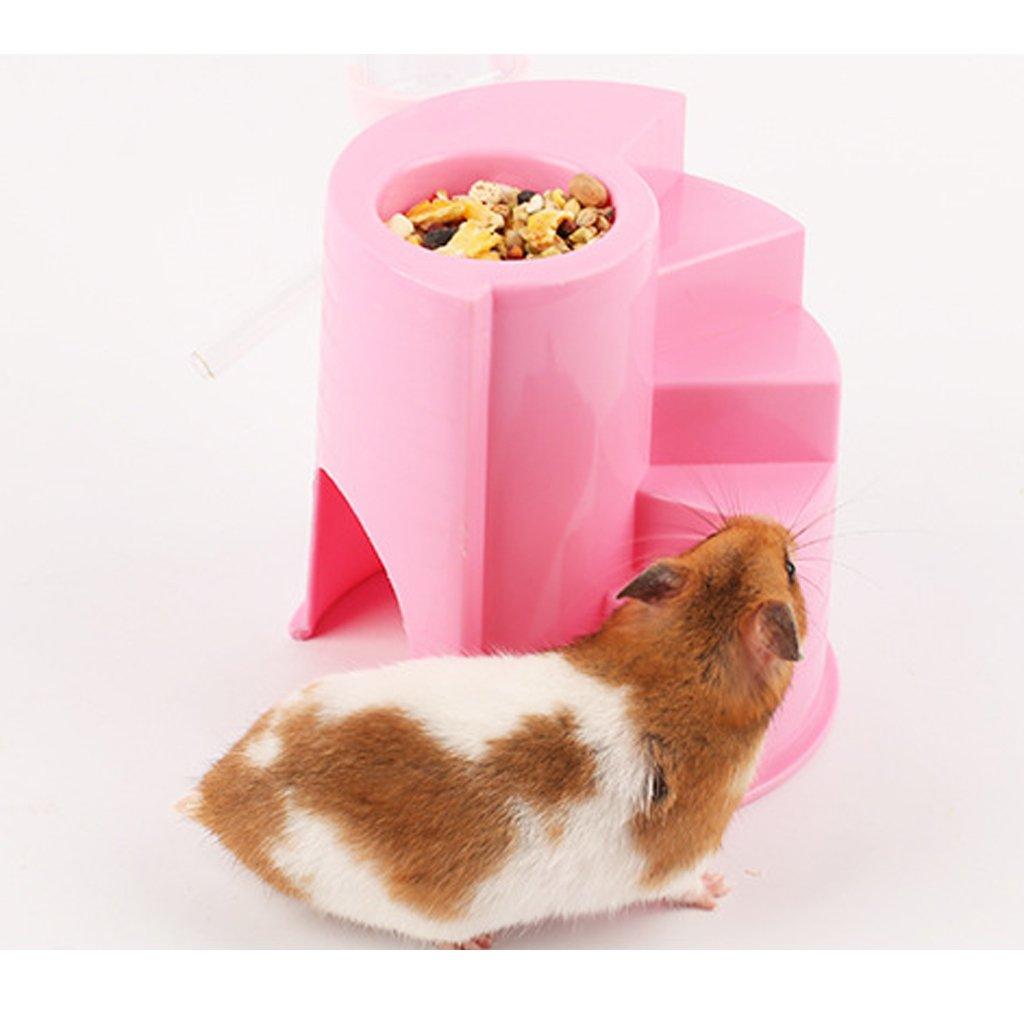 B Blesiya Small Pet Castle Hide House for Hamsters Guinea Pig Eating Drinking Sleeping 12x12cm