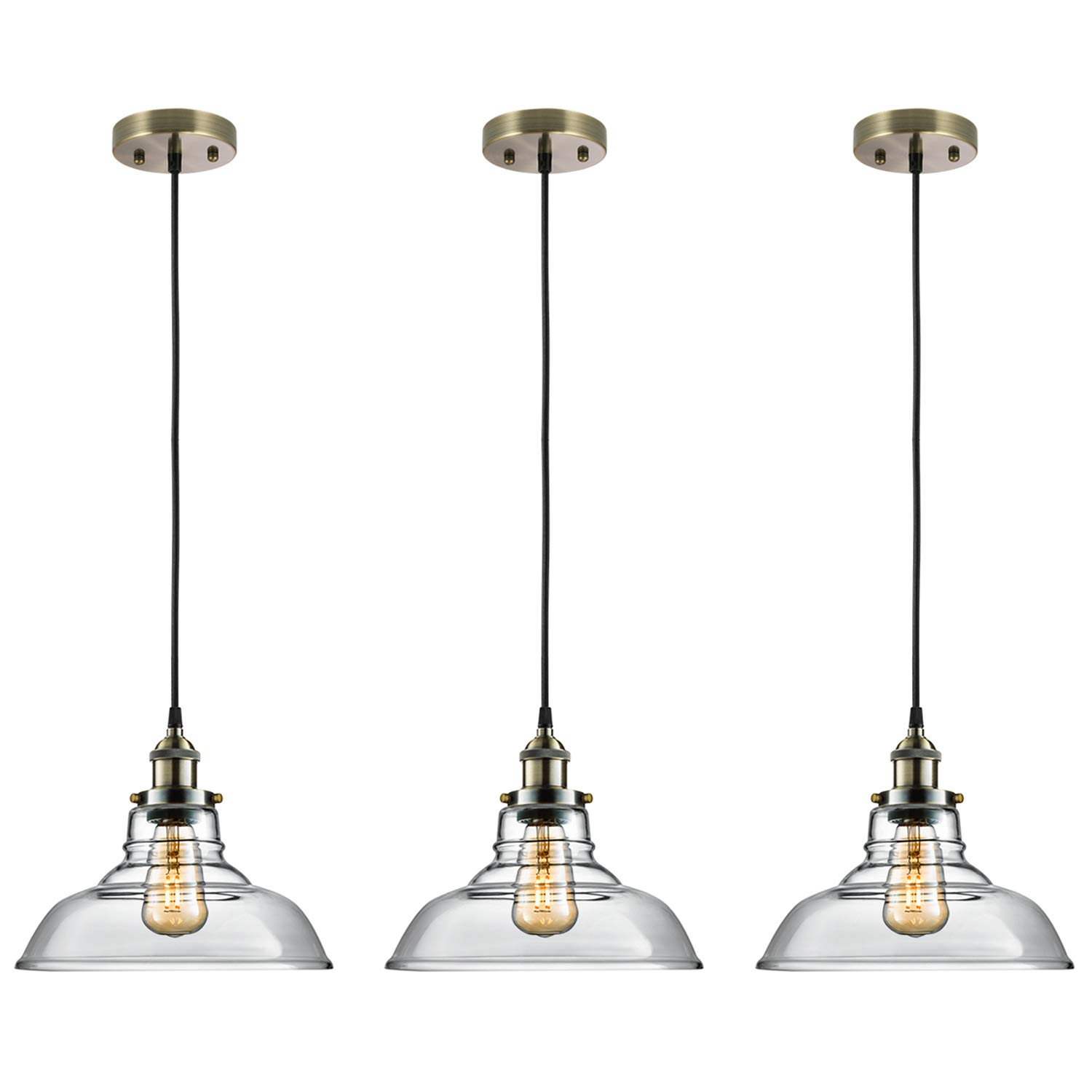 Cool Salking Industrial Hanging Lamp Vintage Edison Clear Glass Pendant Wiring Cloud Hisonuggs Outletorg