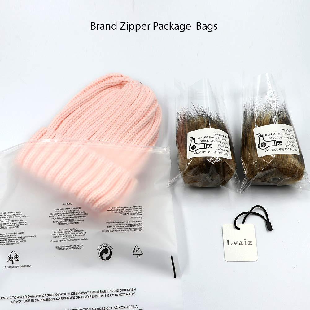 575b9b0ccbb2 Lvaiz Kids Faux Raccoon Fur Ball Pompom Ears Winter Bobble Hat Knitted  Double Pom Cap Kids Beanie Hat(Ages 3-8)  1540998836-228706  -  8.57