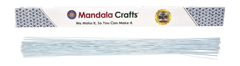 Mandala Crafts White Brown Red Black Green 18 20 22 24 26 Gauge Florist Stem Paddle Floral Wire, 16, 100PCs (18 Gauge 1mm, Brown) 16