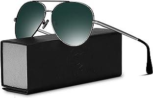 SUNMEET Aviator Polarized Sunglasses For Men Women- UV400 Protection