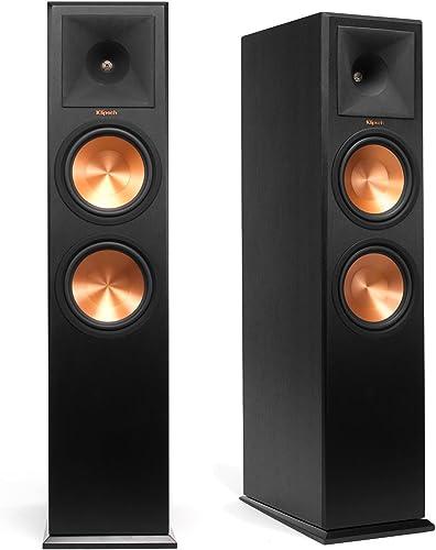 Klipsch RP-280F Reference Premiere Floorstanding Speaker with Dual 8 inch Cerametallic Cone Woofers Ebony Pair