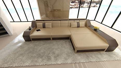 Divanova divano moderno antares angolare in similpelle beige e