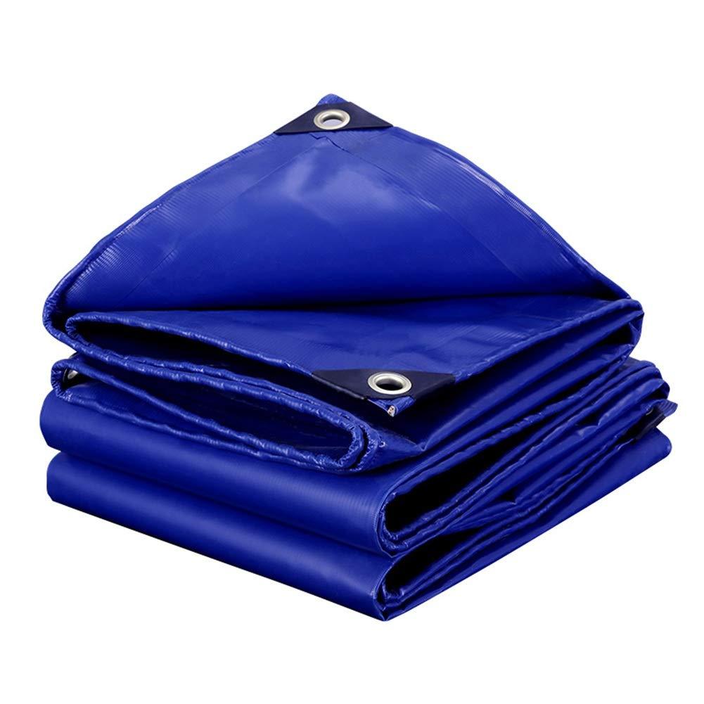 LIXIONG オーニング屋外の シェード オックスフォード布 絶縁 防寒 折りやすい 防雨布、 18サイズ カスタマイズ可能 (色 : 青, サイズ さいず : 3.8x5.8m) 3.8x5.8m 青 B07QHDGX9T