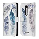 Official Kristina Kvilis Tribe Feathers Leather Book Wallet Case Cover For DROID Turbo 2 / X Force
