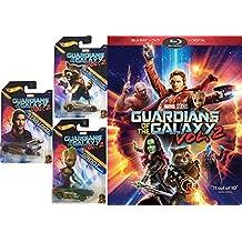 Marvel Groot / Rocket Racoon & Star-Lord Guardians of the Galaxy Vol. 2 Hot Wheels Bundle (Blu-ray + DVD + Digital) Cinematic Universe Super Hero Movie & Car Bundle