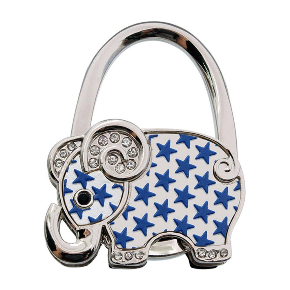 ZoCr Elephant Style Premium Foldable Handbag Bag Purse Hanger Table Hook Holder