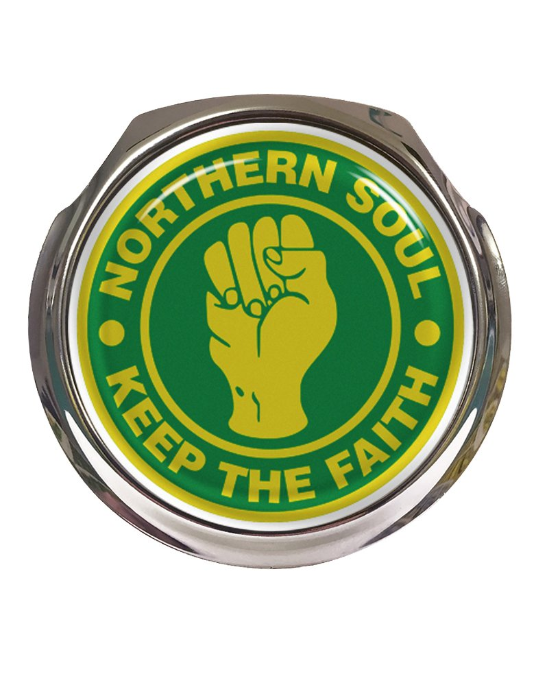 Northern Soul Green /& Yellow Design Car Grille Badge With Fixings