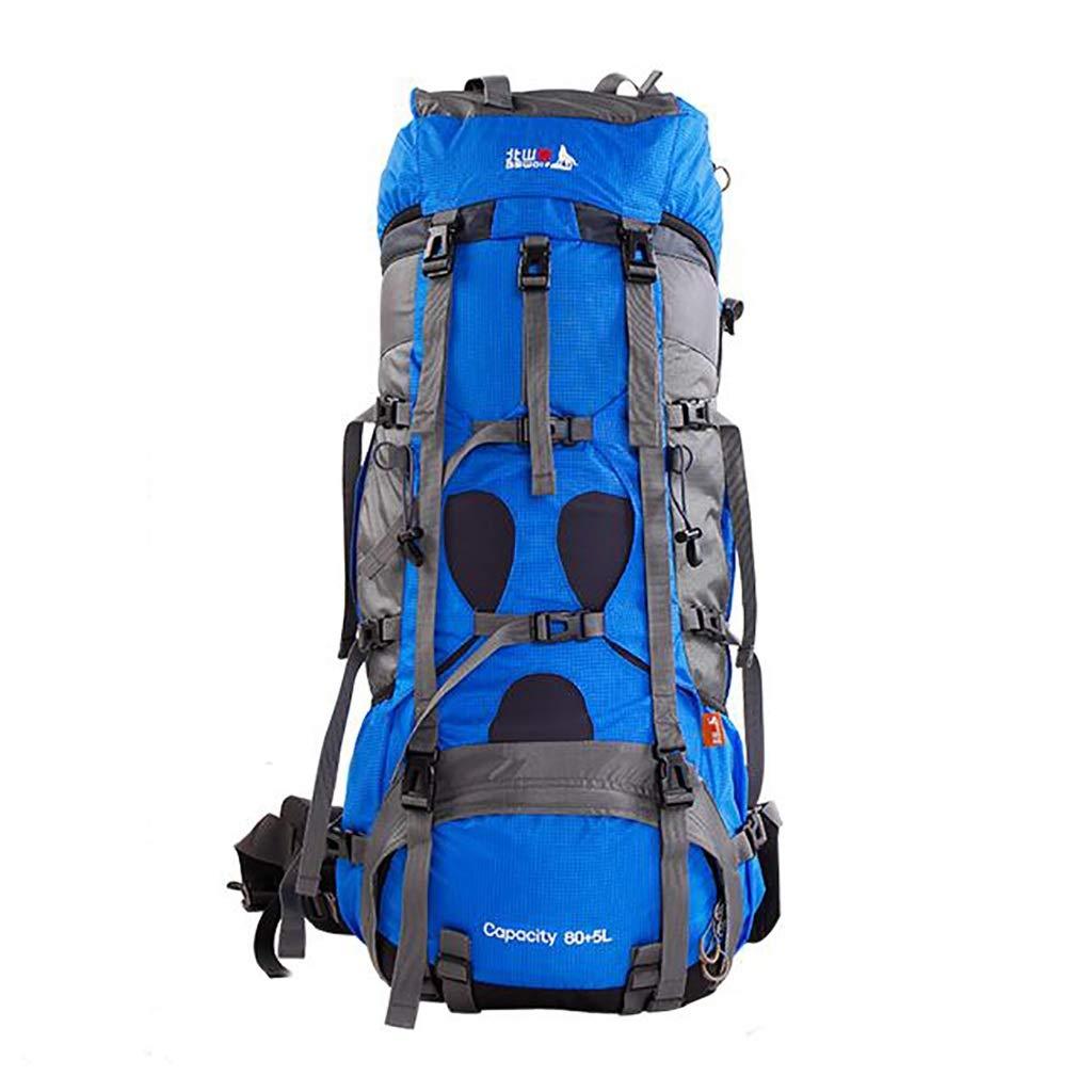 アルパインパック バックパックアウトドアスポーツ登山バッグスポーツバックパックユニセックス多機能バックパック容量85L (色 : 青)  青 B07HBW56YC