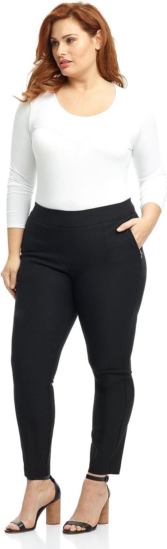 Rekucci Curvy Woman Ease into Comfort Skinny Plus Size Pant w/Tummy Control