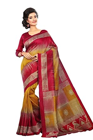 Amazon.com: Traditional Manipuri Silk Saree Ethnic Fashion Sarees ...