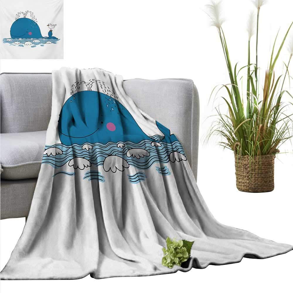 Amazon.com: AndyTours - Manta para bebé, diseño de ballena ...