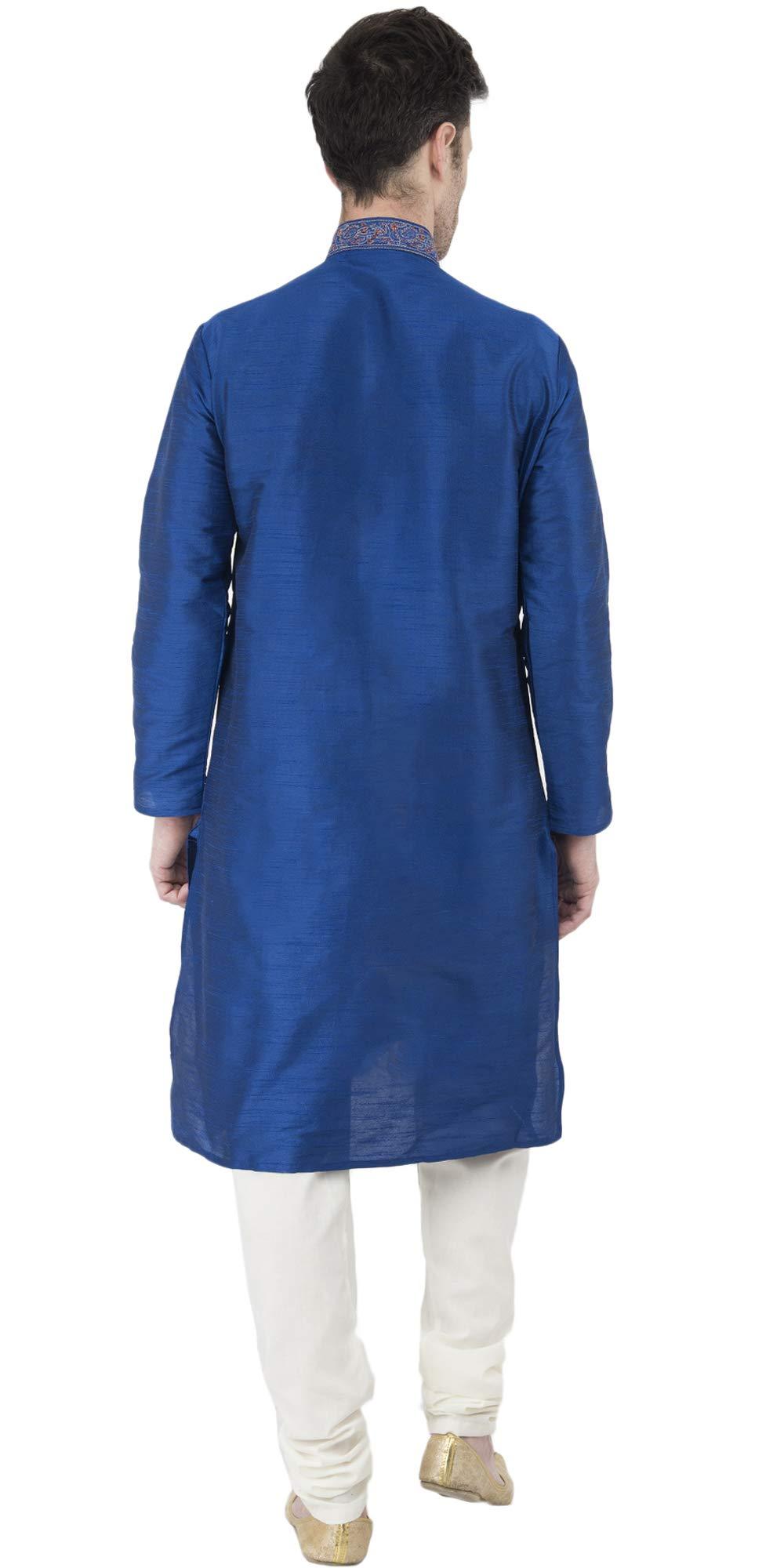 Indian Long Sleeve Kurta Pajama Dress Men Salwar Kameez Party and Wedding Wear -XL by SKAVIJ (Image #5)