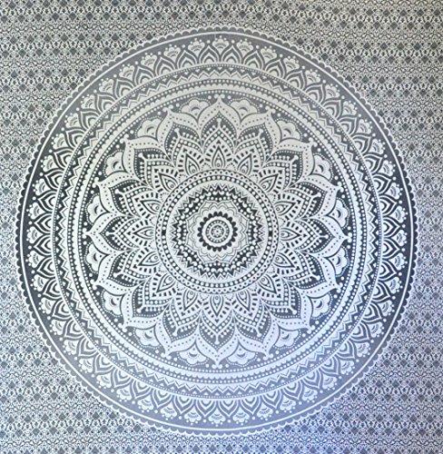 Grau Ombre Tapestry von JaipurHandloom