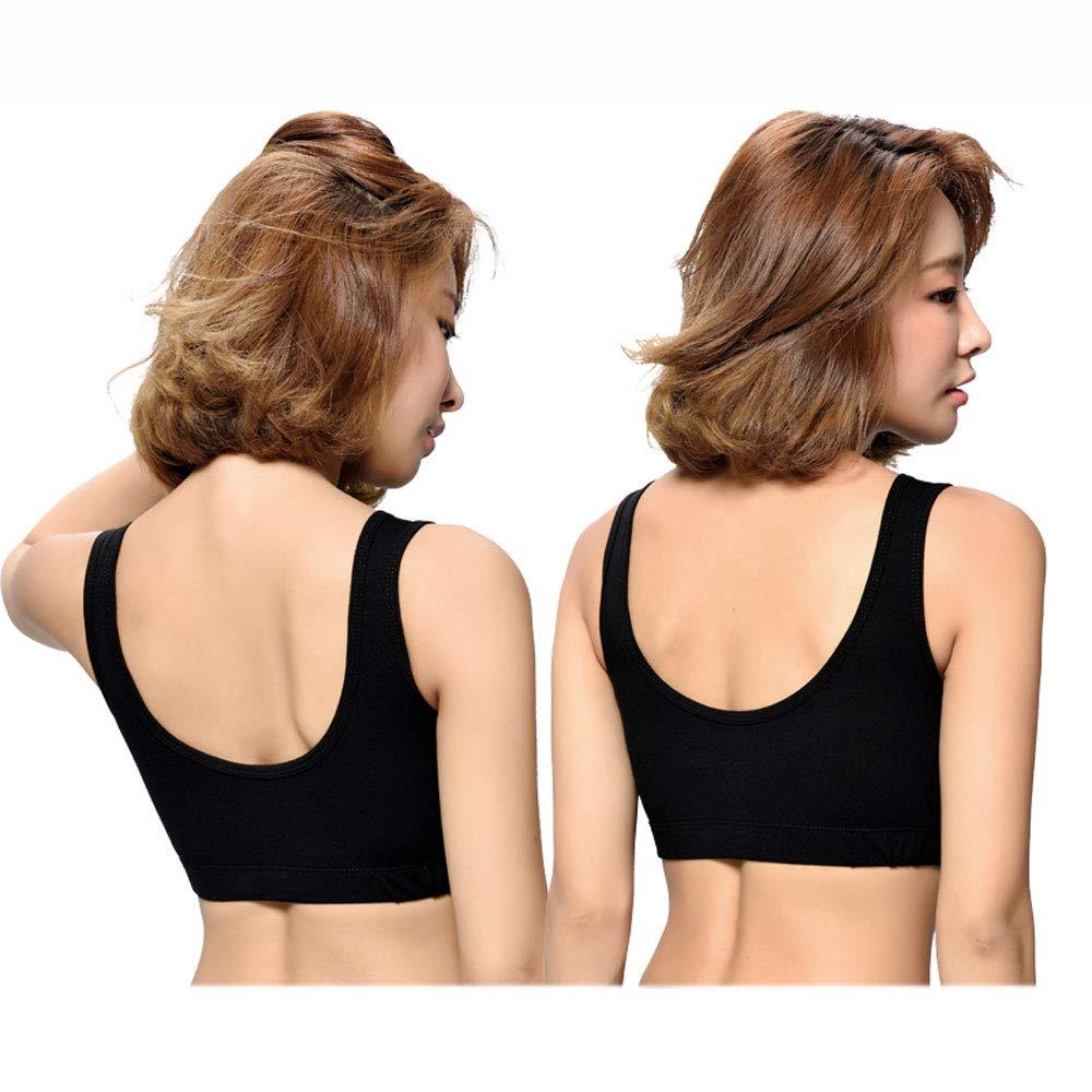 Black(1)+Black(1) Women Sports Bras  High Impact Workout Gym Activewear Bra