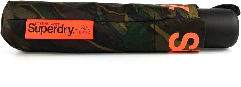 Superdry Parapluie SD Minilite Umbrella Black//Orange